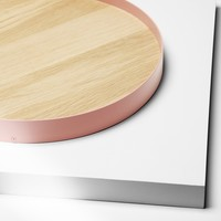 Barrel Tray Oak, Pale Pink by H
