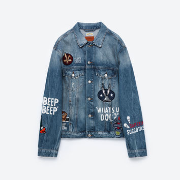 LOONEY TUNES DENIM JACKET - NEW IN-WOMAN | ZARA United Kingdom