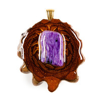 Charoite (Small) Third Eye Pinecone Talisman Necklace
