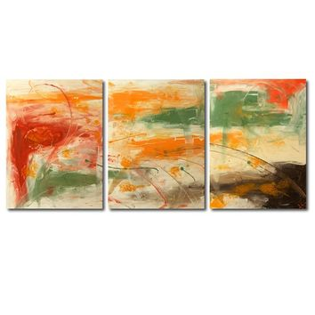"""'African Sunset'  - 54"""" X 24"""" Original Abstract  Art. Free-shipping within USA & 30 day return Policy."""