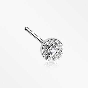 Swirlesque Sparkle Gem Nose Stud Ring