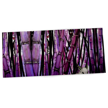 "Theresa Giolzetti ""Bamboo Bunny"" Purple Black Desk Mat"