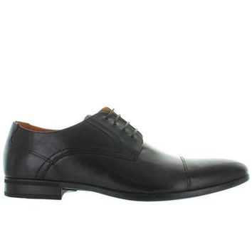 CREYONIG Florsheim Burbank Cap Ox - Black Leather Cap Toe Oxford
