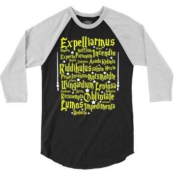 Expelliarmus Harry Potter Spell 3/4 Sleeve Shirt