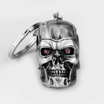 Movie Terminator Keychain Cool 3D Skull head - Ships FREE