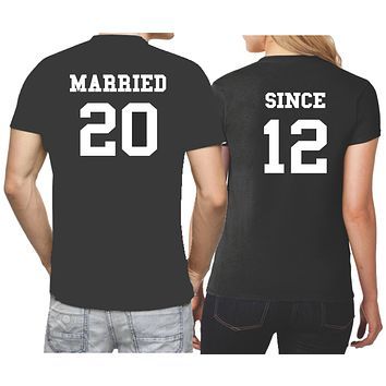 Anniversary Shirts for Couples - Married Since Shirts