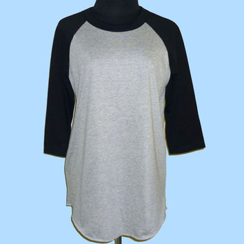 Plain raglan shirt Blank baseball tee **Custom shirts**3/4 sleeve shirt **Men women tshirts size S M L XL XXL