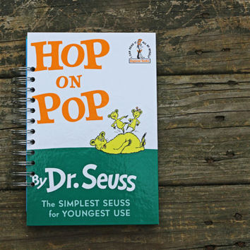 Dr Seuss journal - Hop On Pop doctor seuss - spiral bound journal notebook