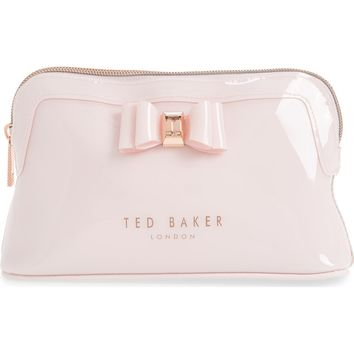 Ted Baker London Julis Bow PVC Cosmetics Case | Nordstrom