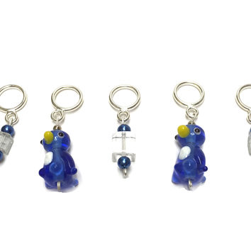 Stitch Markers - Penguins on Ice