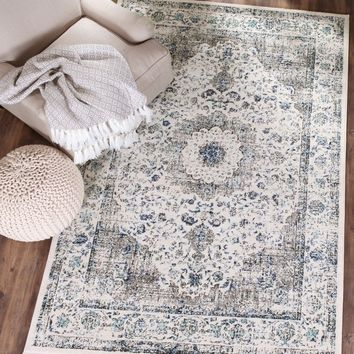 Safavieh Evoke Vintage Oriental Grey / Ivory Distressed Rug (8' x 10') | Overstock.com Shopping - The Best Deals on 7x9 - 10x14 Rugs