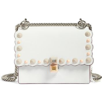 Fendi Small Kan I Scallop Leather Shoulder Bag | Nordstrom