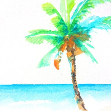Best watercolor paintings trees products on wanelo for Painting palm trees