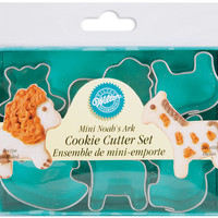 noah's ark mini metal cookie cutters - 6 ct