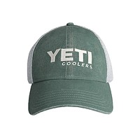 Washed Low Pro Trucker Hat in Green by YETI