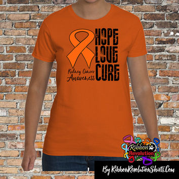 Kidney Cancer Awareness Hope Love Cure Shirts