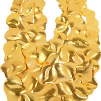 Hervé Van der Straeten | Hammered gold-plated bib necklace  | NET-A-PORTER.COM