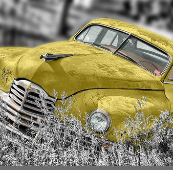Old Timer Car, Antique Car Picture on Acrylic , Wall Art Decor Ready to Hang!.