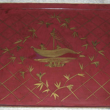 Hand-Painted Chinoiserie Tole Tray