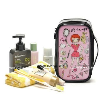 ESBU3C Designer Multi Style Cute Cartoon Graphic Cosmetic Bag Travel Organizer Toiletry Bag with handle