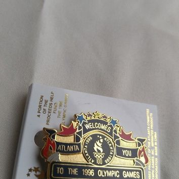 "ATLANTA 1996 Olympic ""Atlanta Welcomes You to the 1996 Olympic Games"" Pin"