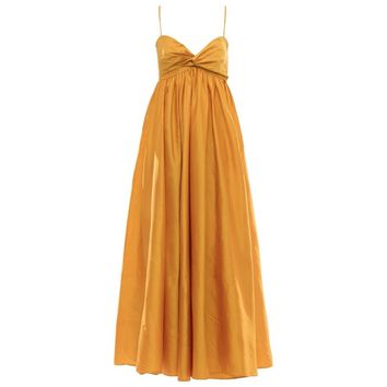 Donna Karan Silk Marigold Evening Dress. Circa 1980's