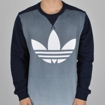 Adidas Originals Fading Graphic Crewneck Sweatshirt - Navy/White