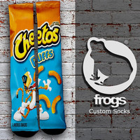 Cheetos Puffs Elite Socks, Custom socks, Personalized socks