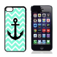 Chevron Anchor Boat Hard Plastic and Aluminum Back Case For Apple iphone 5C With 3 Pieces Screen Protectors