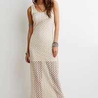 Open-Crochet Maxi Dress