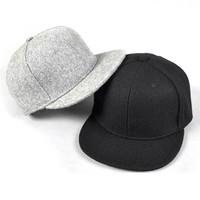 Wool Blended Fashion Men Snap Back Cap