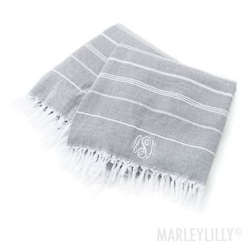 Monogrammed Turkish Towel | Marleylilly