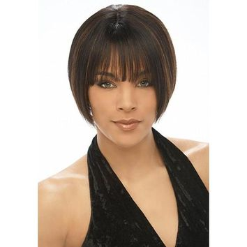 REMY & HUMAN HAIR WIG WITH BANG (HJ1000)