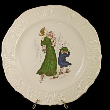 Decorative Plate, Atlas China Company NY, Limited Edition, Kate Greenaway