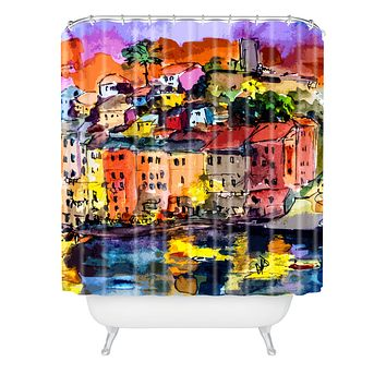 Ginette Fine Art Dolce Vita In Vernazza Shower Curtain