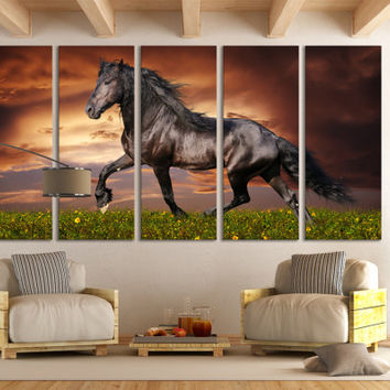 Horse Photography Canvas Print Wall Art / Western Horse Decor Giclee Fine Art Canvas Print Nature Photography Wall Art Mustang Wall Art