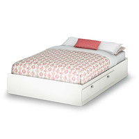 Full Size Modern Platform Bed with 4 Storage Drawers