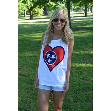 Tennessee Pride Tank Top in White