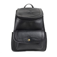MapleClan Unique Genuine Leather Cowhide Unisex Backpack