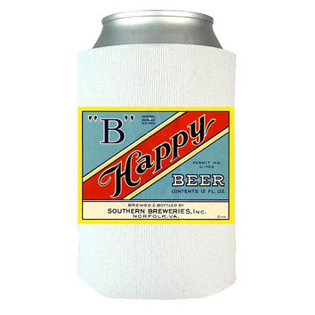B Happy Beer - Beer Can Wrap, Insulated Can Wrap, Beer Gifts, Gift Idea For Beer Lovers, Vintage Beer Label, Dad Gifts   Man Gifts