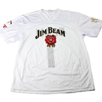 Jim Beam #1 Football Jersey in White Mens Size Large