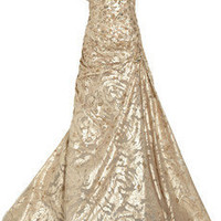 Carolina Herrera Sequined tulle and jaquard gown - 85% Off Now at THE OUTNET