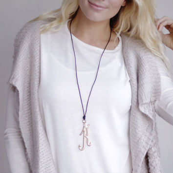 Monogram Large Leather Necklaces