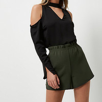 Khaki green casual shorts - casual shorts - shorts - women