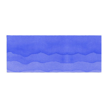 "Kess Original ""Ombre Berry"" Blue Digital Bed Runner"