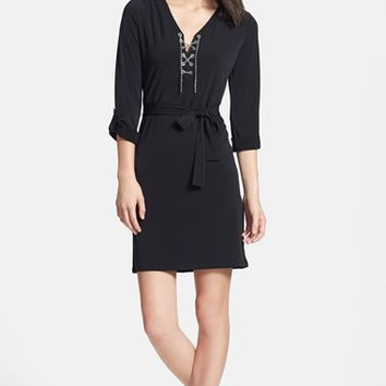 Women's MICHAEL Michael Kors Chain Lace Jersey Dress,