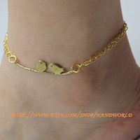 beautiful birds anklets Ankle chain golden birds anklets beautiful anklets-N541