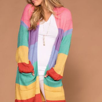 Main Event Stripe Sweater Cardigan