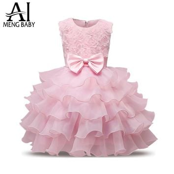Ai Meng Baby Girl Baptism Dress For Newborn Baby 1st 2nd Birthday Outfits Bebes Toddler Kids Clothes For Girl Party Wear Costume