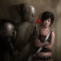 """Robot In Love"" - Art Print by Rudy-Jan Faber"